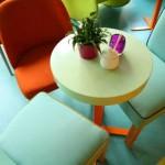 Colorful Retro Cafe in Poland
