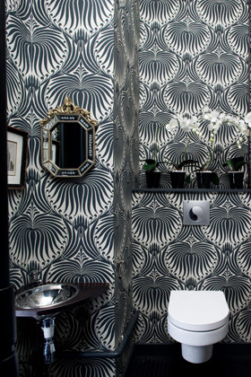 Black Lotus Wallpaper by Farrow & Ball