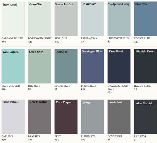 Farrow Amp Ball Colors Matched To Benjamin Moore Interiors