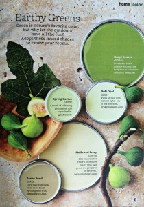 Green Neutrals Kitchen Using Benjamin Moore Interiors By