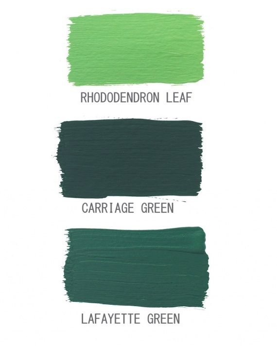 Dark Green Color Palette Interiors By Color