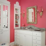 Traditional Bathroom in Deep Carnation