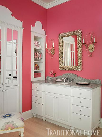 pink traditional bathroom