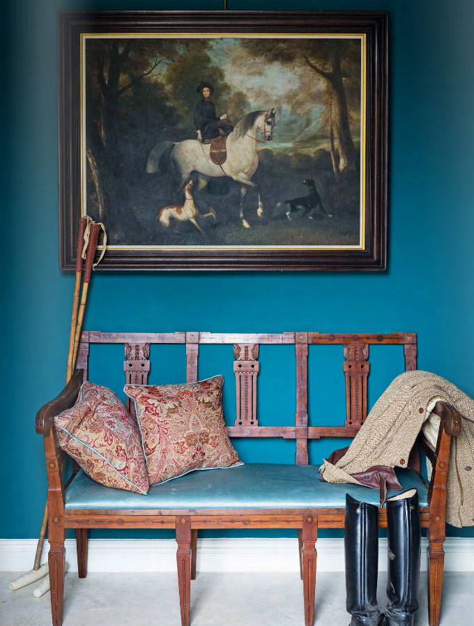 Traditional Entrance in Teal