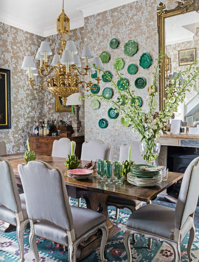 Traditional Garden Dining Room Style Interiors By Color