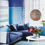 Two Toned Blue Living