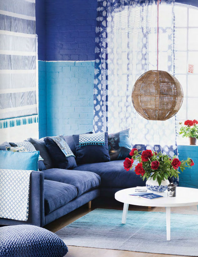 two tone colors for living room two toned blue living interiors by color 25933