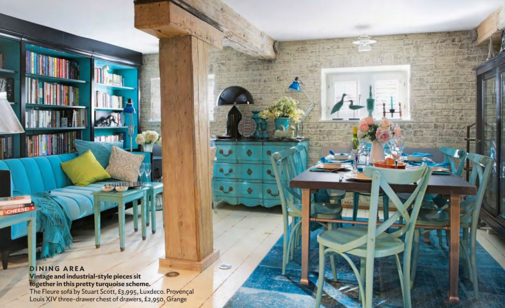 Industrial And Antique Turquoise Themed Living Interiors By Color
