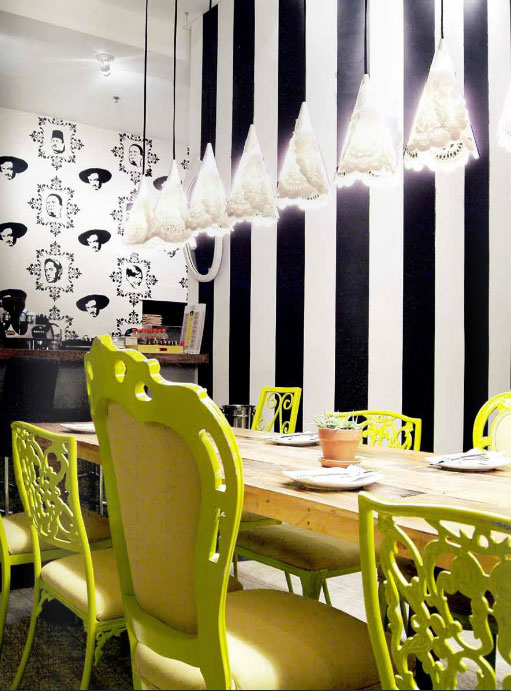 yellow-painted-chairs-contemporary-dining