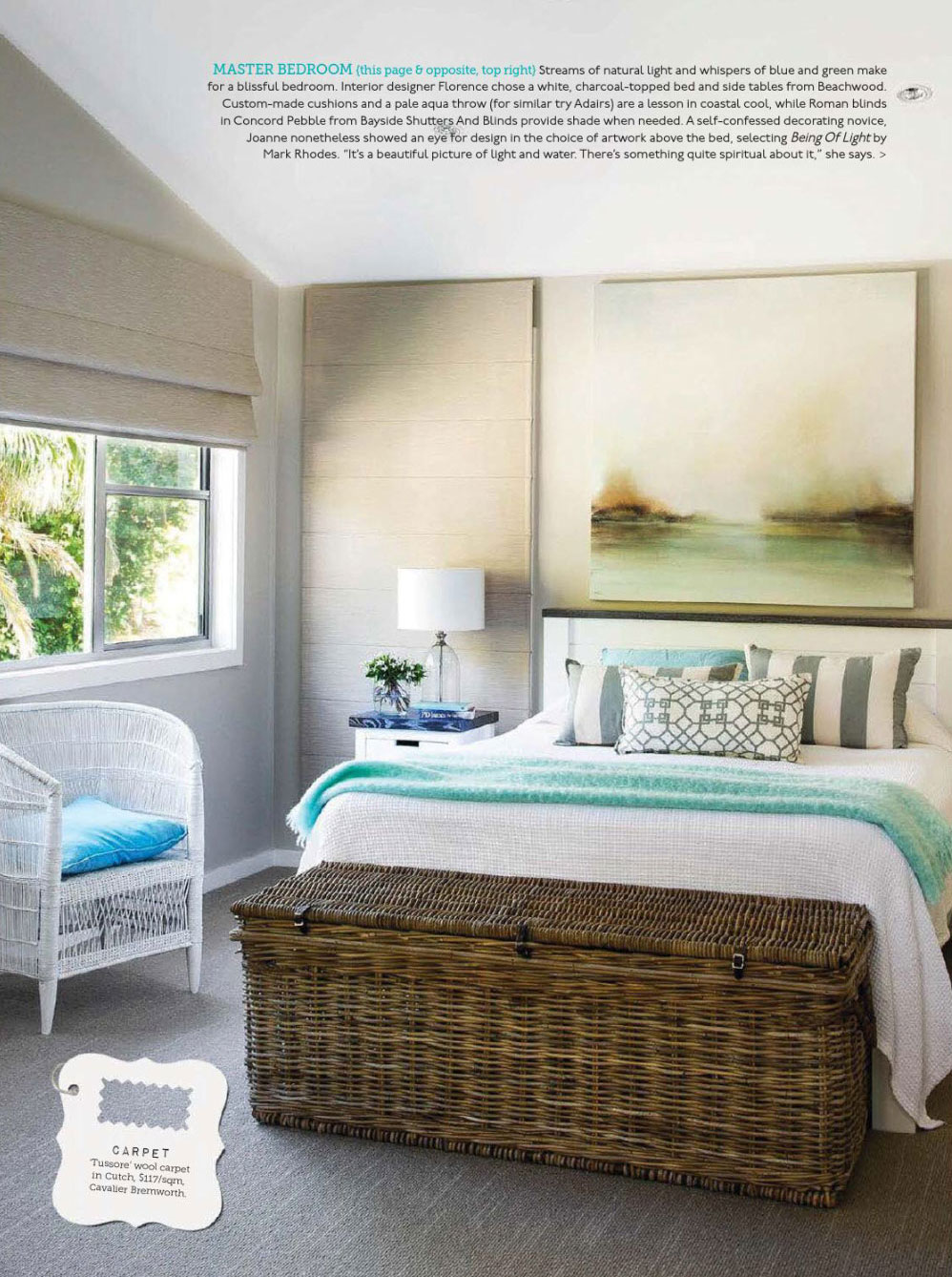 coastal blissful master bedroom interiors by color. Black Bedroom Furniture Sets. Home Design Ideas