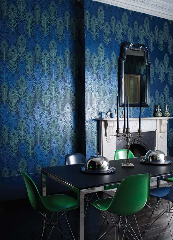 Eclectic Blue and Green Dining