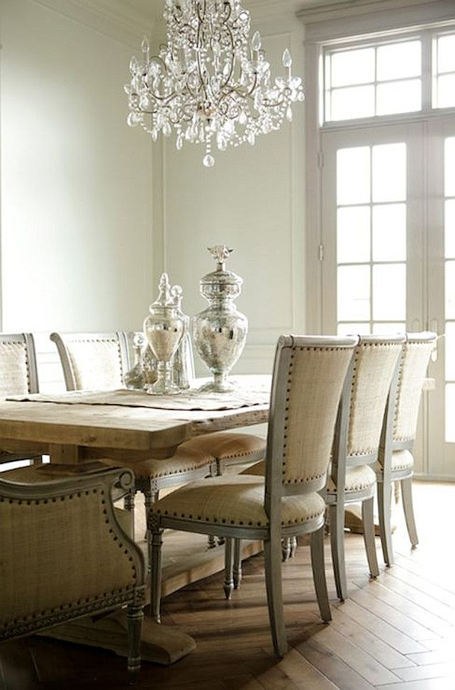 French Dining Room by Decor de Provence - Interiors By Color