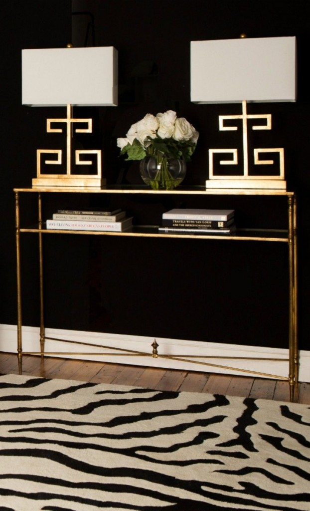 Gold, Black and White Foyer Elegance