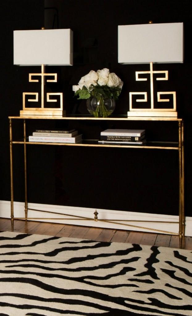 Gold, Black and White Foyer Elegance