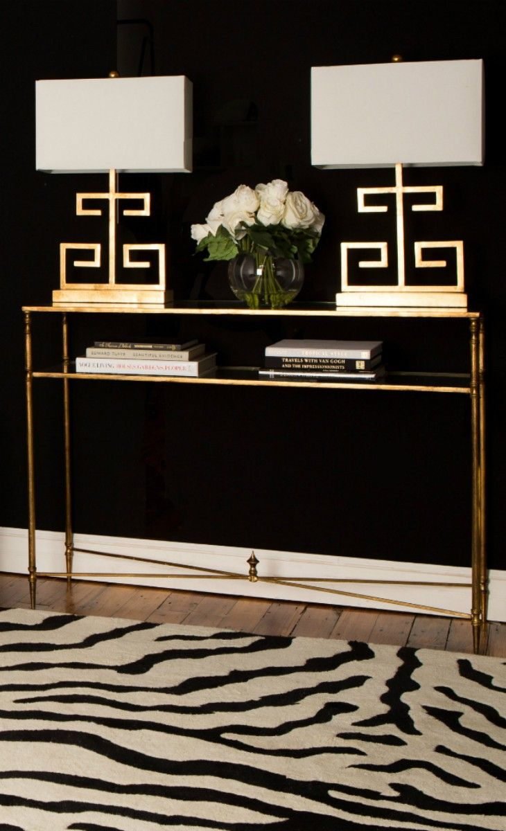 Gold Black White Foyer Elegance on famous art deco interior designers