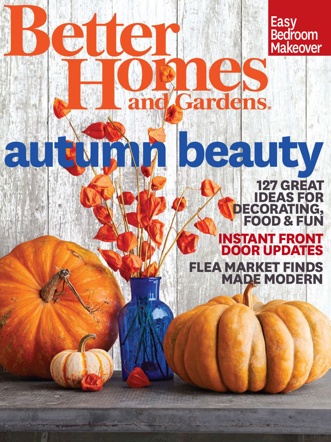 better homes and gardens october 2014 cover interiors by