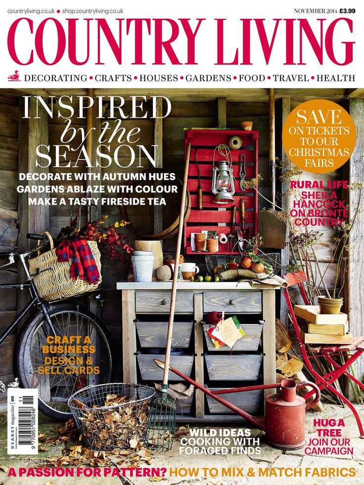 Country Living Magazine November 2014 Interiors By Color