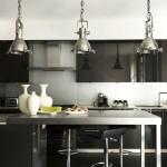 Black Glossy Kitchen Cabinets