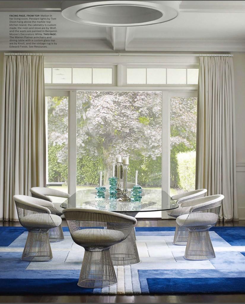 Contemporary Blue Dining