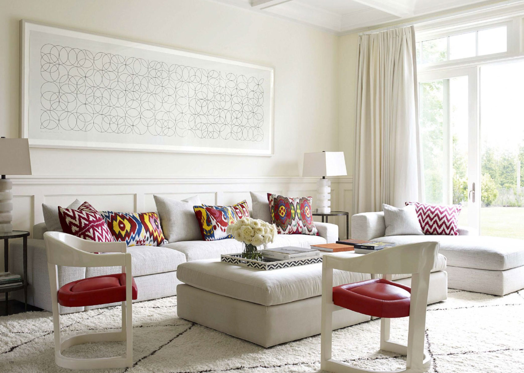 Contemporary family room in the bridgehamptons interiors for Hamptons decor