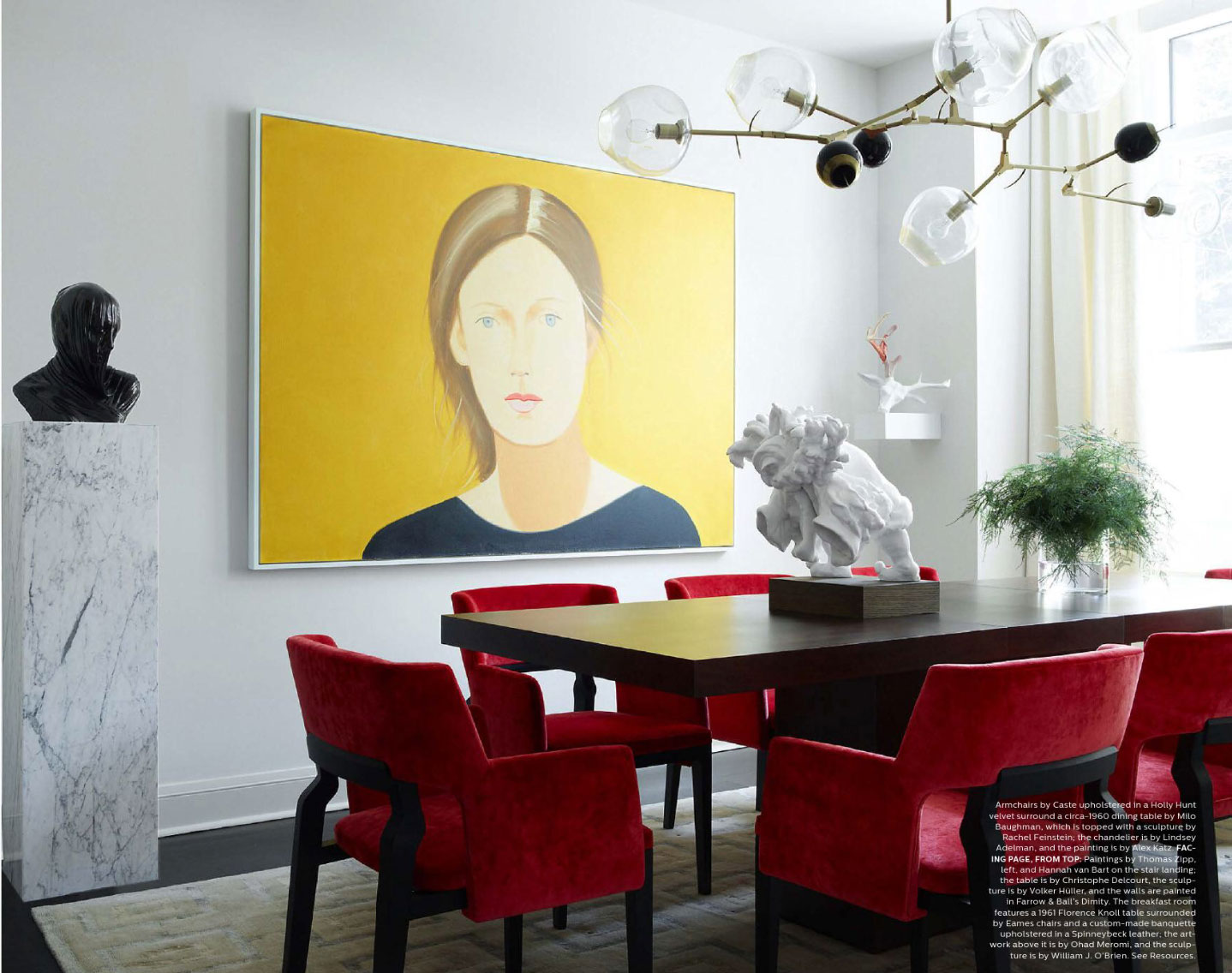 Contemporary Red and Yellow Dining Room - Interiors By Color