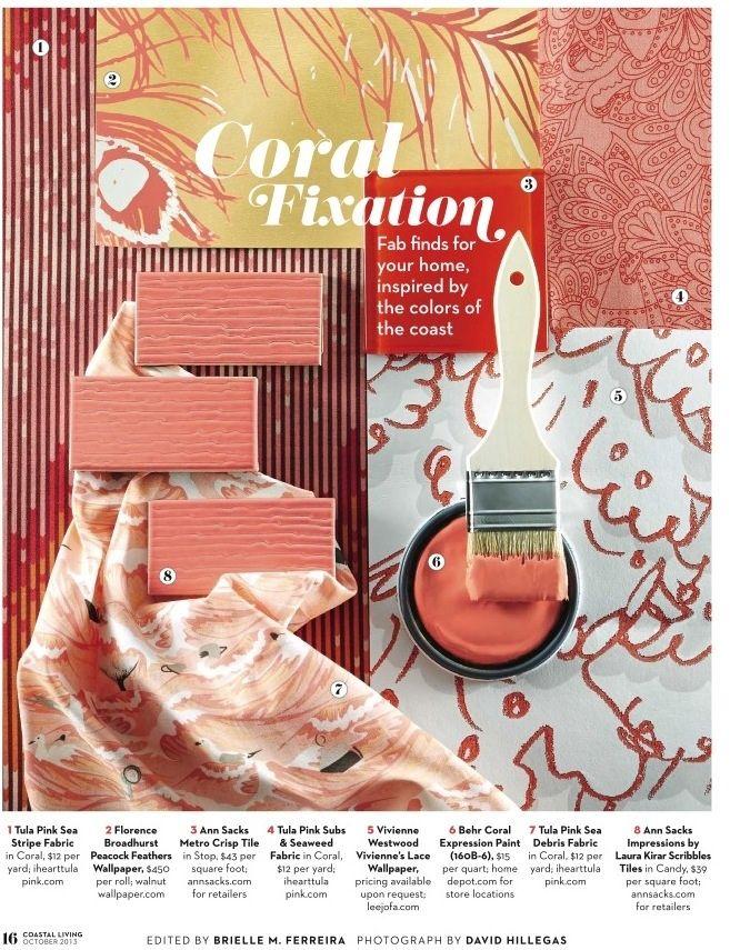 Color Palette - Coral Fixation