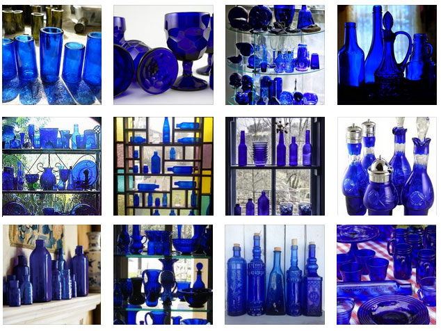 Cobalt Blue Glass Inspiration