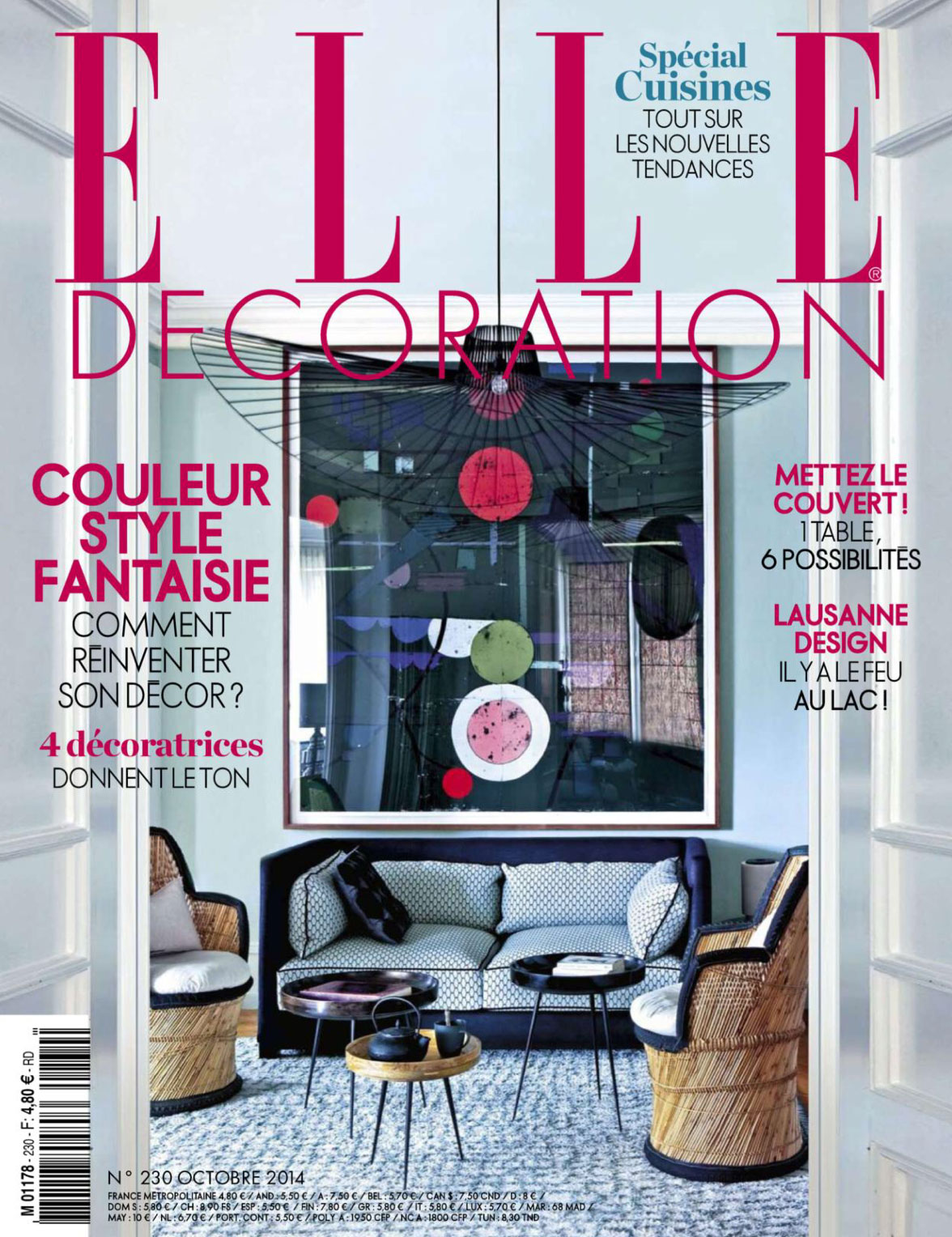 elle decoration france decoration october 2014 interiors by color 10246