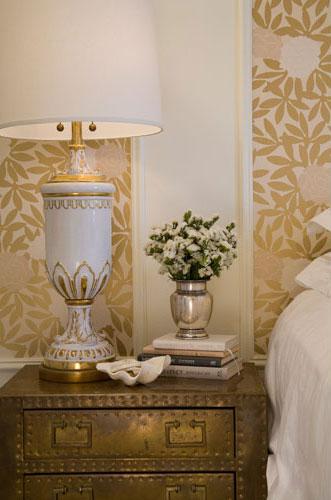 Gold Bedroom by Summer Thornton Design