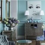 Pastel Blue Living Room