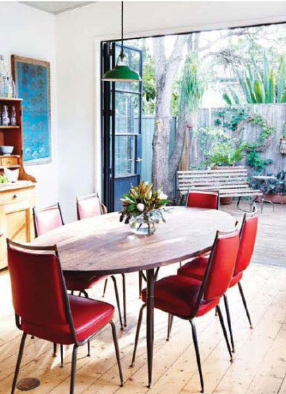 red-retro-dining-chairs