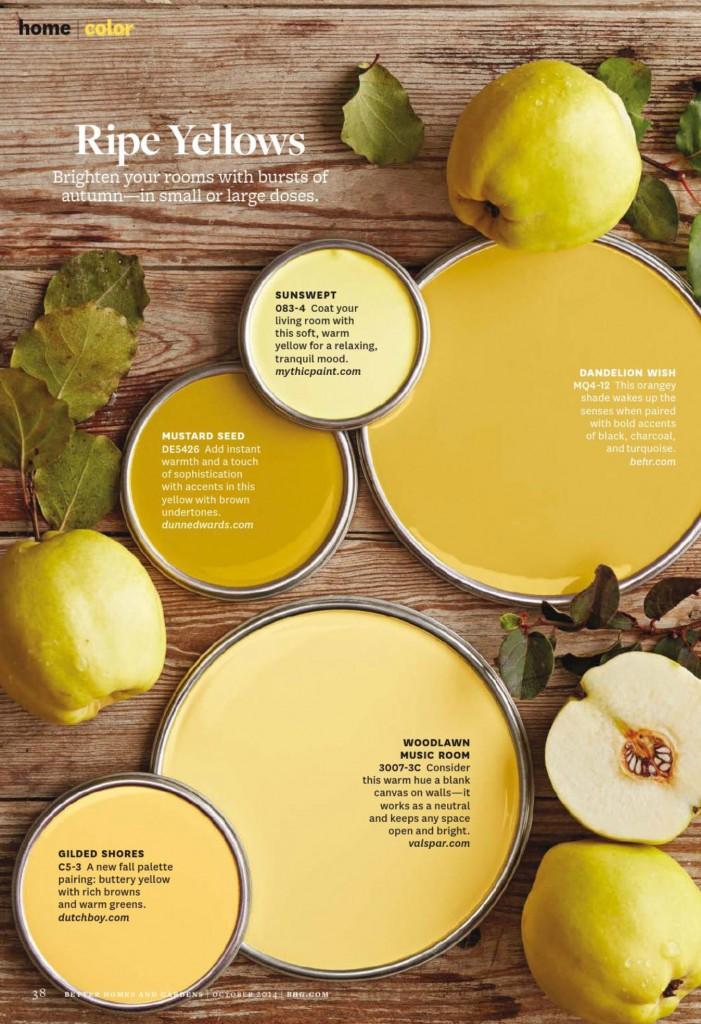 Ripe Yellows Paint Palette