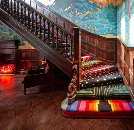 Color Filled Staircase