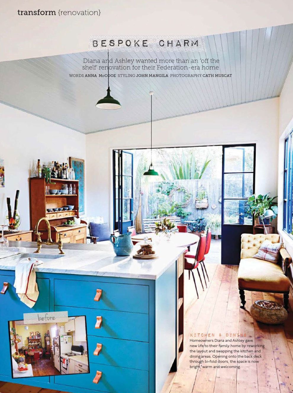 Turqoise Kitchen: Turquoise Kitchen Federation Style Home