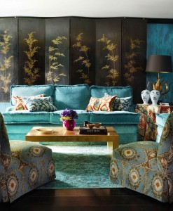 Turquoise Sitting Room