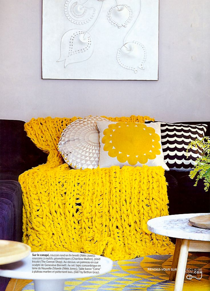 Yellow Living Room Details