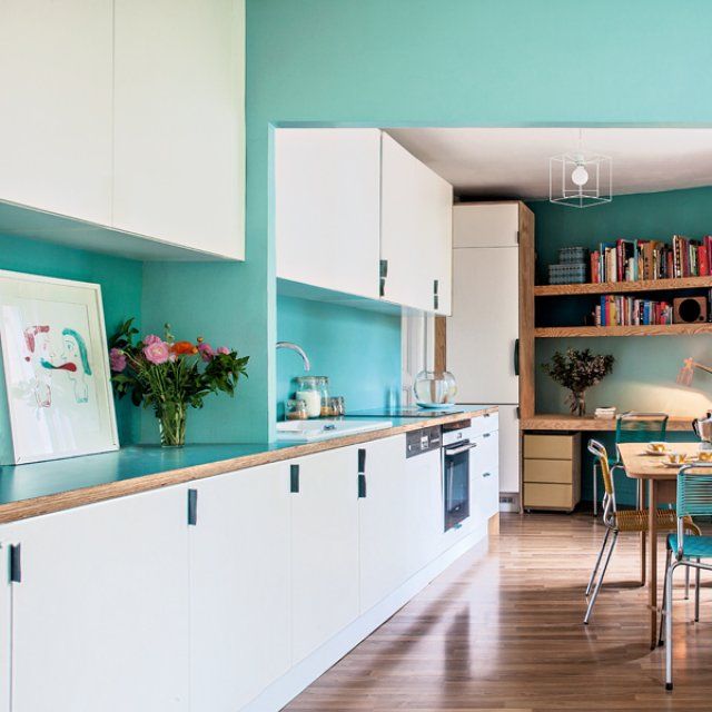 Color Spotlight Benjamin Moore Aegean Teal: Small Apartment In Turquoise