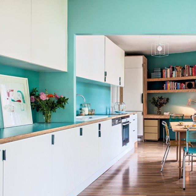 turquoise kitchens - interiorscolor (13 interior decorating ideas)