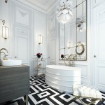 Black and White Bathroom by Ando Studio