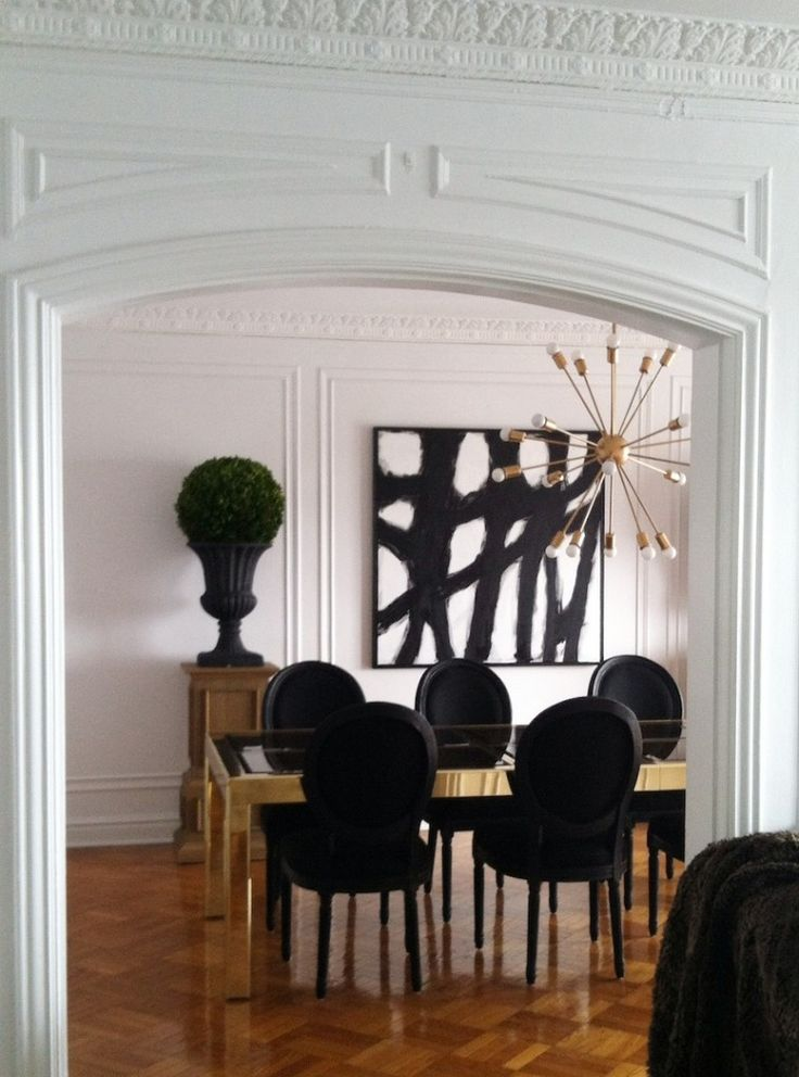 Abstract Black Dining Interiors By Color