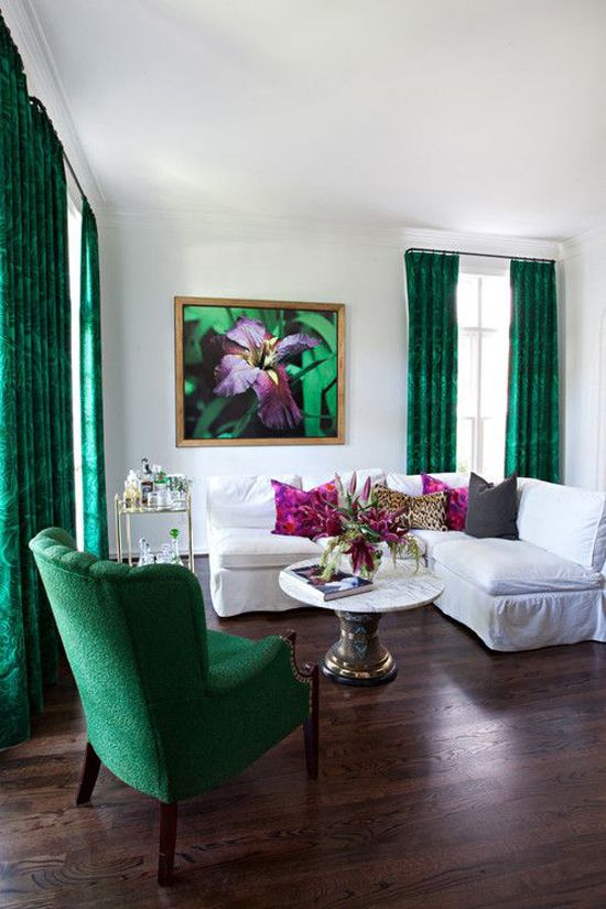 Chic Living In Green And White Part 26