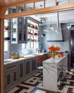 Gray Kitchen by Steven Gambrel