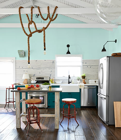 Color Spotlight Benjamin Moore Aegean Teal: Breezy Point House Tour