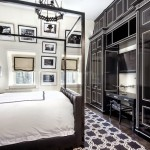 Black and White Traditional Bedroom