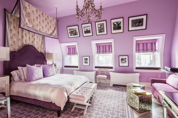 Superbe Lavender Traditional Bedroom