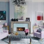 Contemporary Pastel Living Room