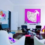 pop lounge in bright colors interior