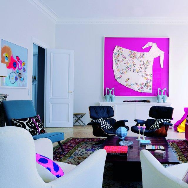 pop lounge in bright colors interior