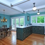 Teal Traditional Kitchen