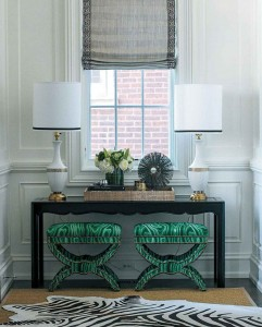 Bold and Fun Entryway